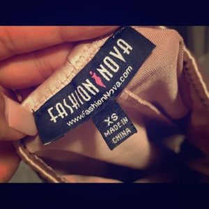 Satin Fashion Nova soft pink dress